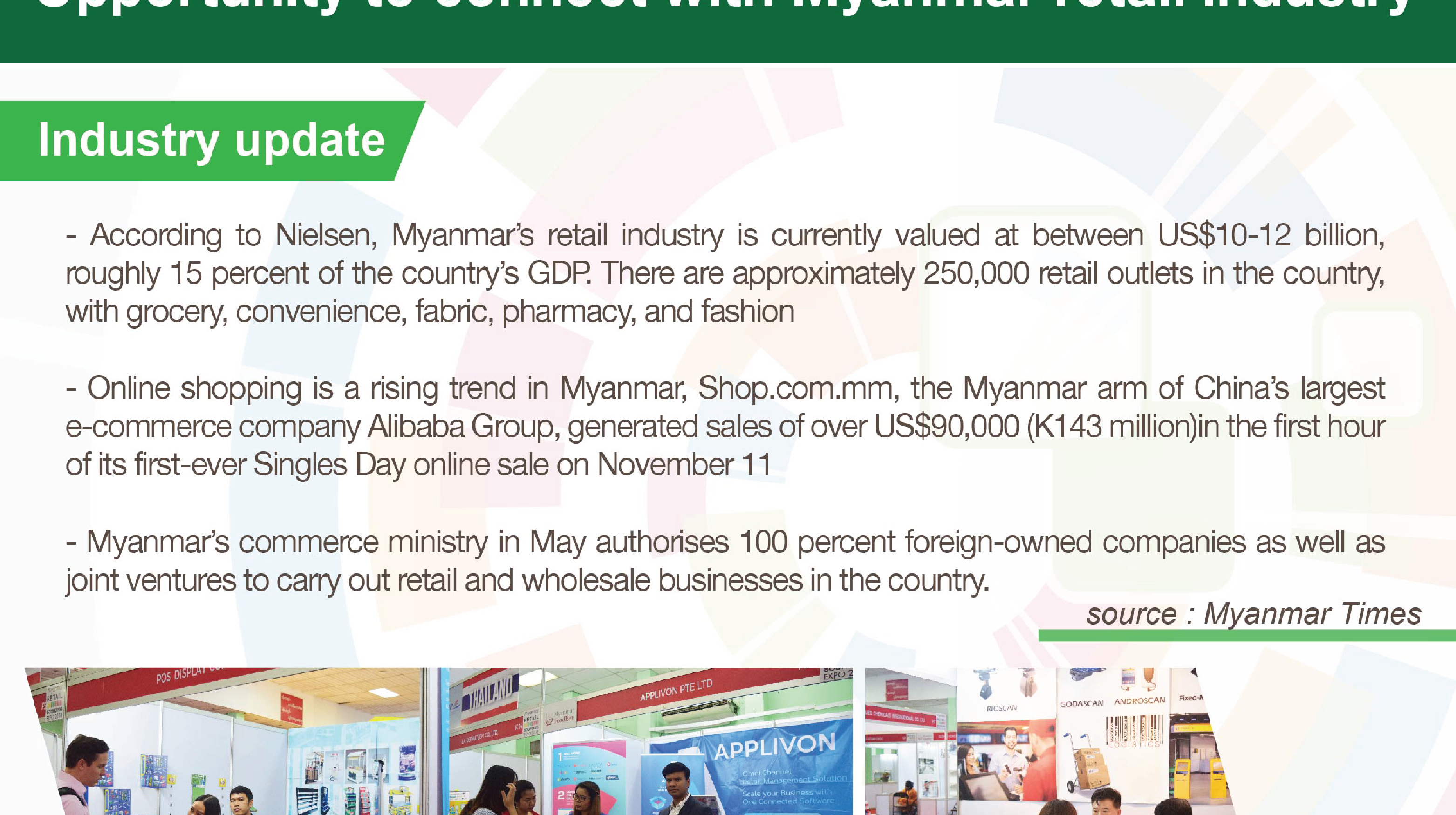 Opportunity to connect with Myanmar retail industry