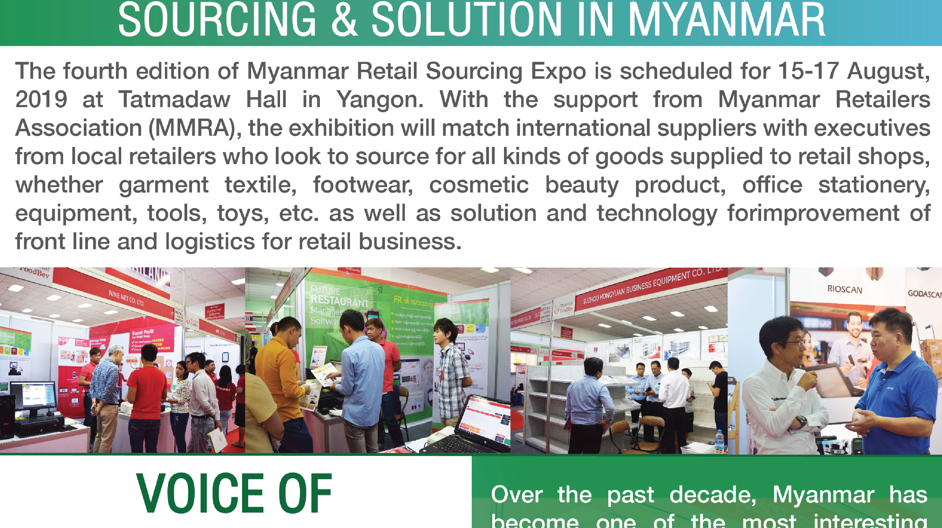 One stop platform for retail business sourcing & solution in Myanmar